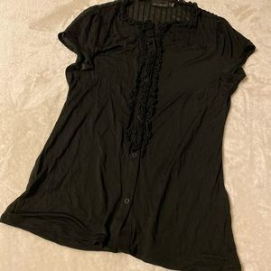 The Limited Sheer Black Top